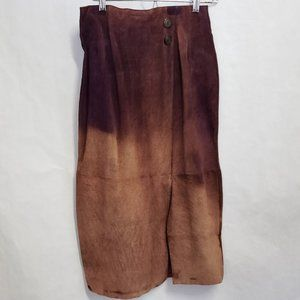 Casual Corner Leather Skirt ombre Burgundy size 8